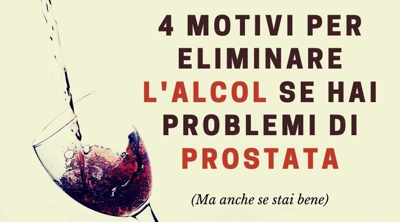 alcol e prostata
