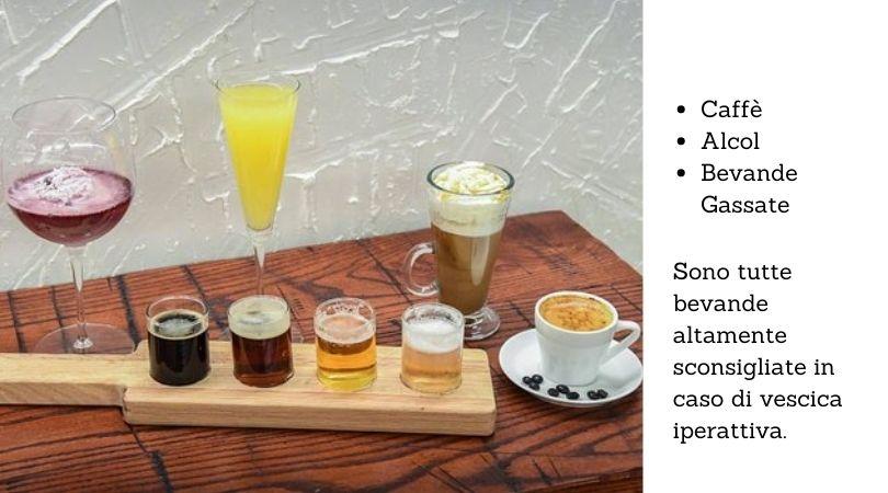 bevande sconsigliate vescica iperattiva